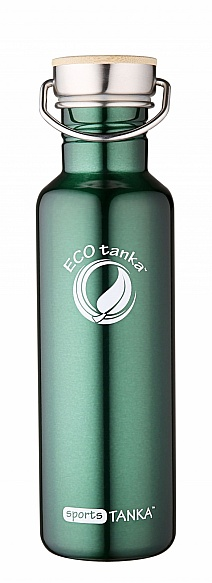 800ml SportsTANKA New Green  with stainless steel bamboo lid