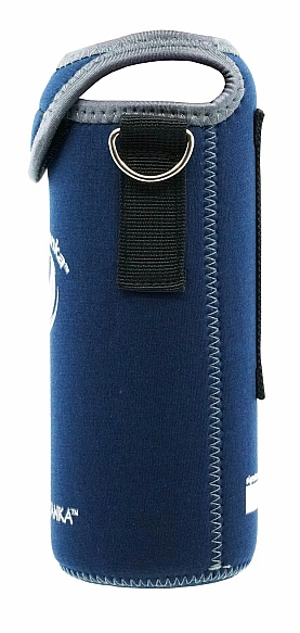 Sports 800ml Kooler Cover Dark Blue Grey Trim