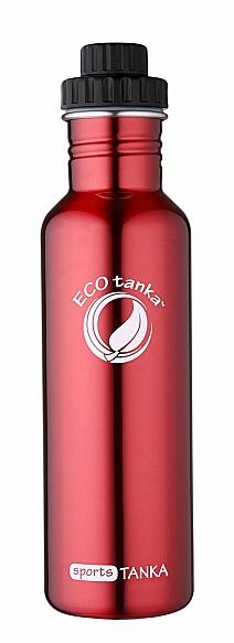 800ml SportsTANKA Red with screwTop lid
