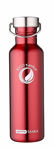 800ml SportsTANKA Red with classic stainless steel lid