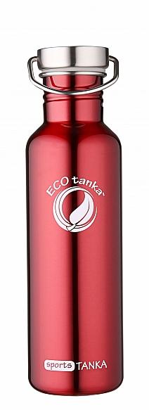 800ml SportsTANKA Red with modern stainless steel lid