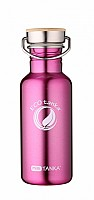 600ml MiniTANKA with stainless steel bamboo lid -Pink